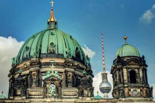 Der Berliner Dom und der Fernsehturm.