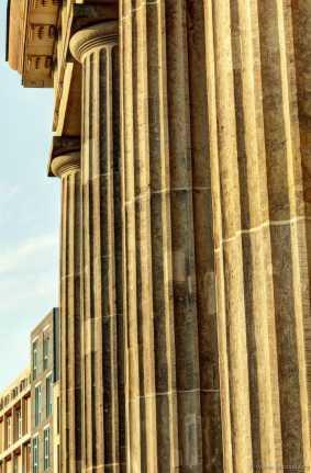 Die Säulen am Brandenburger Tor.