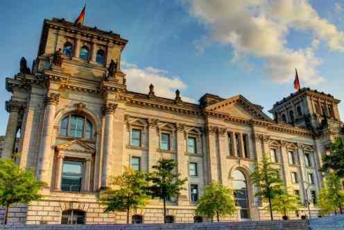 Das Reichstagsgebäude zur Abendstunde