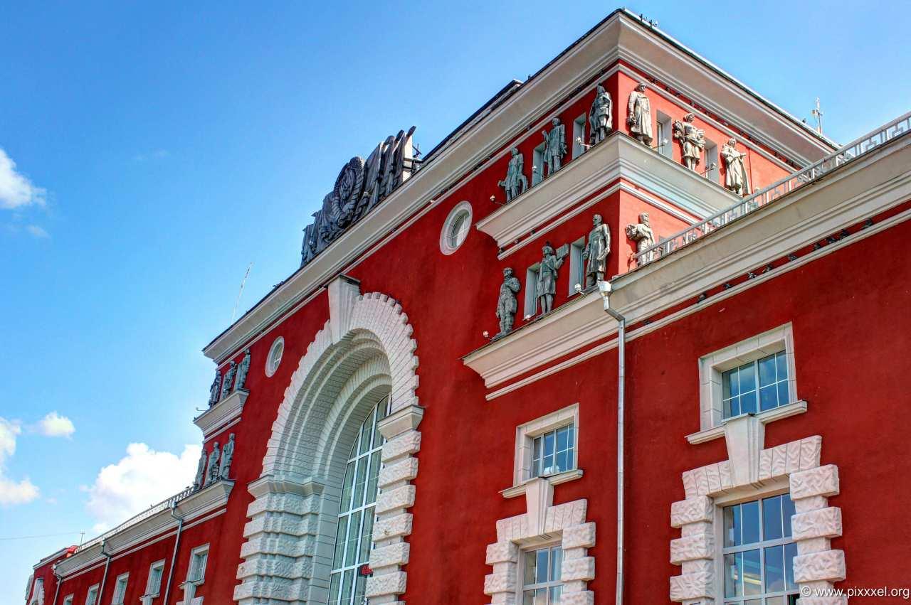 Der Bahnhof von Kursk...