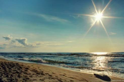 Am einsamen Strand von Rowy.