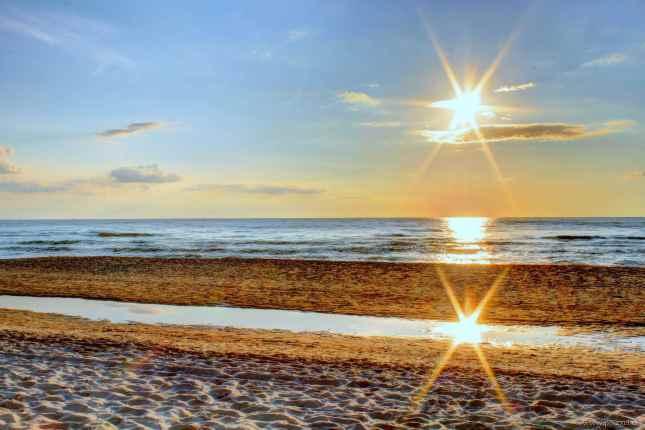 Die Sonne spiegelt sich...