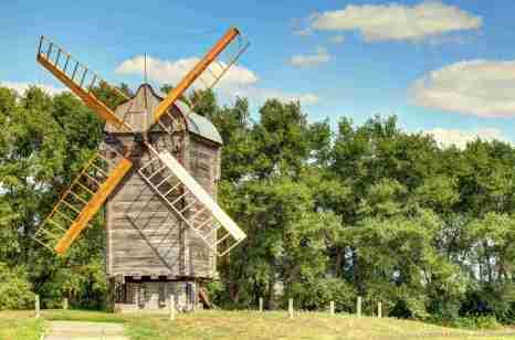 Eine alte Mühle
