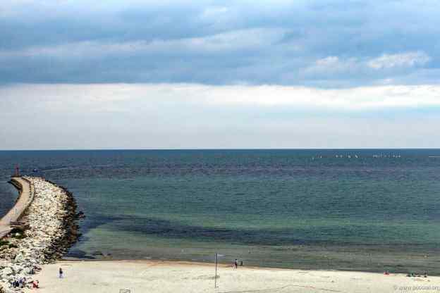 am Strand von Ustka
