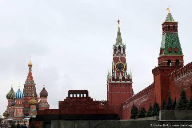 Basiliuskathedrale, Leninmausoleum und Kreml.