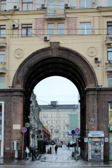 Detail an der Twerskaja Straße