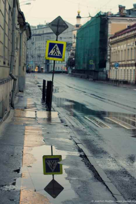 leere Bürgersteige