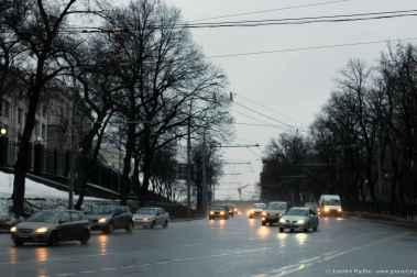Straße zum Lubjankaplatz.