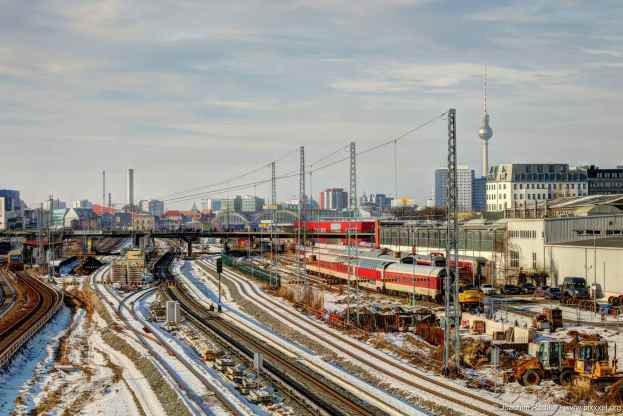 Gleise Richtung Alexanderplatz...