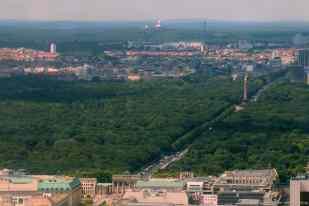 der Tiergarten und Brandenburger Tor
