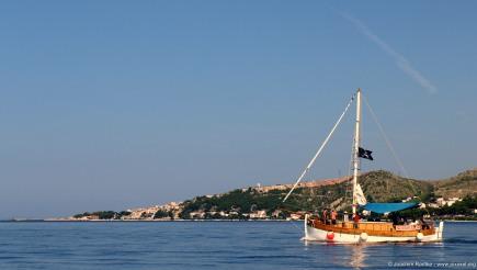 Am Hafen von Omiš