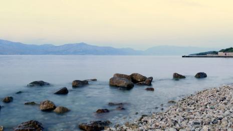Blick zum Festland