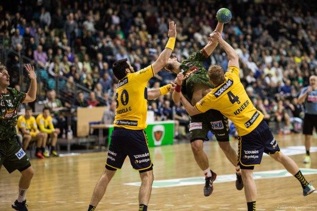 DKB Bundesliga Handball 14.12.2014 Füchse Berlin - Rhein-Neckar Löwen,J.Radtke,www.pixxxel (102)