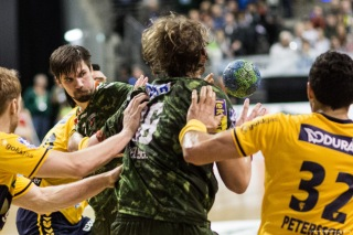 DKB Bundesliga Handball 14.12.2014 Füchse Berlin - Rhein-Neckar Löwen,J.Radtke,www.pixxxel (125)