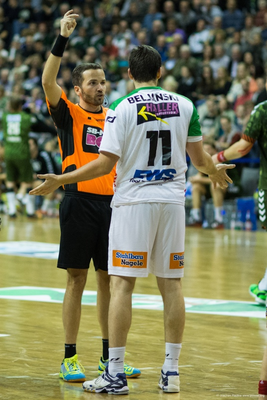 DKB Bundesliga Handball 23.12.2014 Füchse Berlin - Frisch Auf! Göppingen ,J.Radtke,www.pixxxel (32)