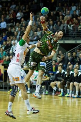 DKB Bundesliga Handball 23.12.2014 Füchse Berlin - Frisch Auf! Göppingen ,J.Radtke,www.pixxxel (34)