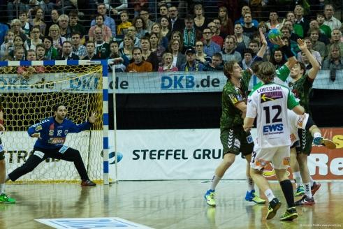 DKB Bundesliga Handball 23.12.2014 Füchse Berlin - Frisch Auf! Göppingen ,J.Radtke,www.pixxxel (42)