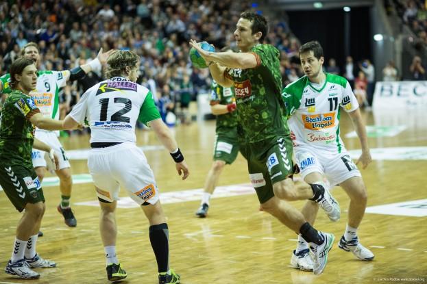 DKB Bundesliga Handball 23.12.2014 Füchse Berlin - Frisch Auf! Göppingen ,J.Radtke,www.pixxxel (63)