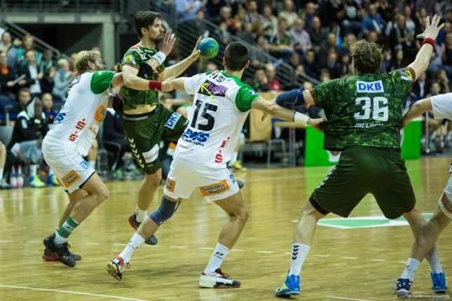 DKB Bundesliga Handball 23.12.2014 Füchse Berlin - Frisch Auf! Göppingen ,J.Radtke,www.pixxxel (78)