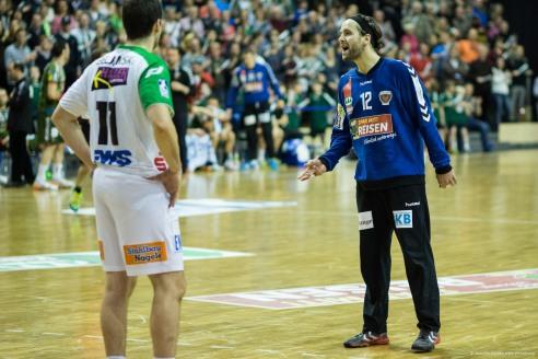 DKB Bundesliga Handball 23.12.2014 Füchse Berlin - Frisch Auf! Göppingen ,J.Radtke,www.pixxxel (84)